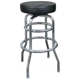Double Ring Metal Bar Stool