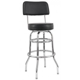Open Back Metal Bar Stool