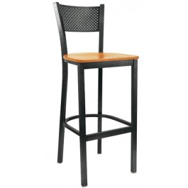 Metal Square Back Bar Stool
