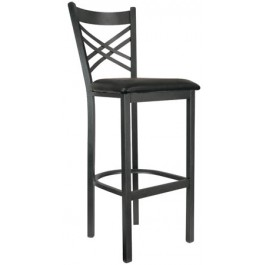 Metal Crossback Bar Stool