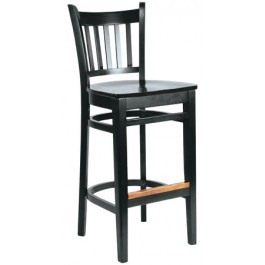 Wood Slatback Bar Stool