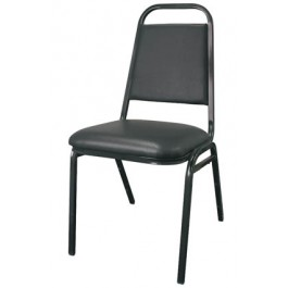 """1 1/2"""" Metal Square Stack Chair"""
