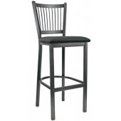 Metal Vertical Back Bar Stool