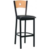 Metal Moon Back Bar Stool