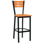 Metal Slotted Back Bar Stool