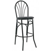 Metal Fanback Bar Stool