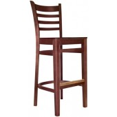 Wood Deluxe Ladderback Bar Stool