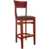 Wood Queen Anne Bar Stool