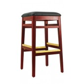 Wood Backless Bar Stool