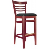 Wood Ladderback Bar Stool