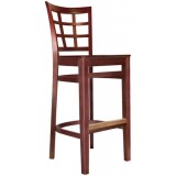 Wood Latticeback Bar Stool