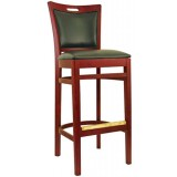 Wood Handle Back Bar Stool