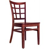Wood Latticeback Chair