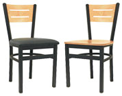 Available in wood seat and padded seat